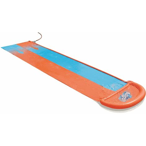 Bestway Piste Toboggan Gonflable H2O Go! Double Orange / Bleu 549 Cm - 52264 -