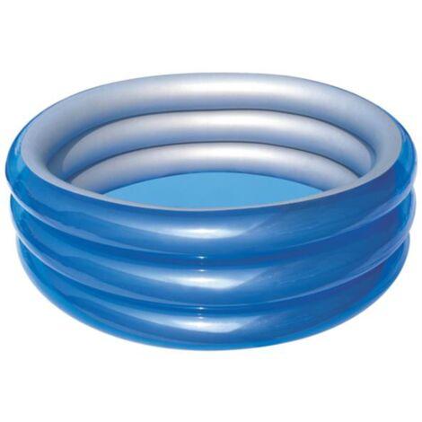 Bestway Planschbecken METALLIC, Ø 170cm x 53cm, Schwimmbad, blau/silber
