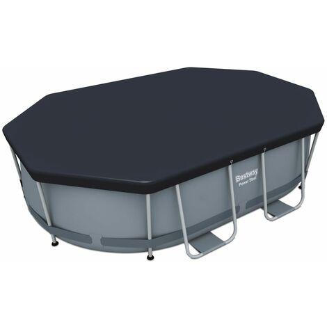 "main image of ""Bestway Pool Cover Flowclear 300x200 cm - Grey"""