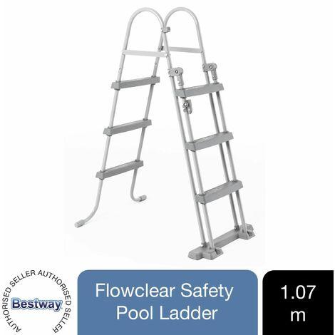 Bestway Pool Ladders 33' 2 Steps / 42' 3 Steps / 48' 4 Steps Safety Stepladder