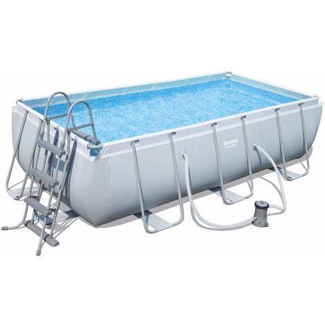 Bestway Pool Set eckig Power Steel 404 x 201 x 100 cm