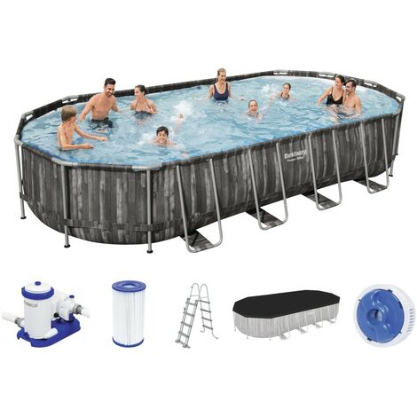Bestway Power Steel Oval Frame Pool Set 732 x 366 5611T