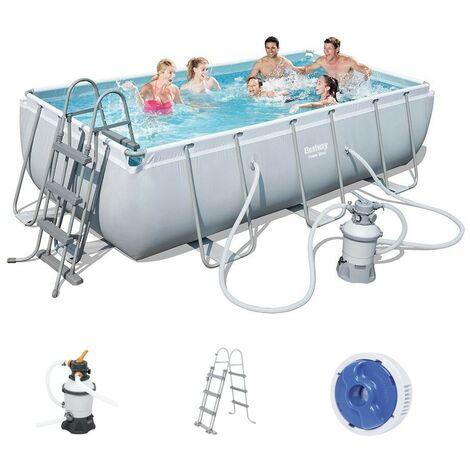 Bestway Power Steel Pool Set 404 x 201 mit Sandfilter 56442