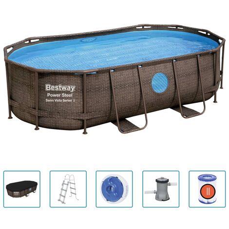 Bestway Power Steel Swimmingpool-Set 427x250x100 cm