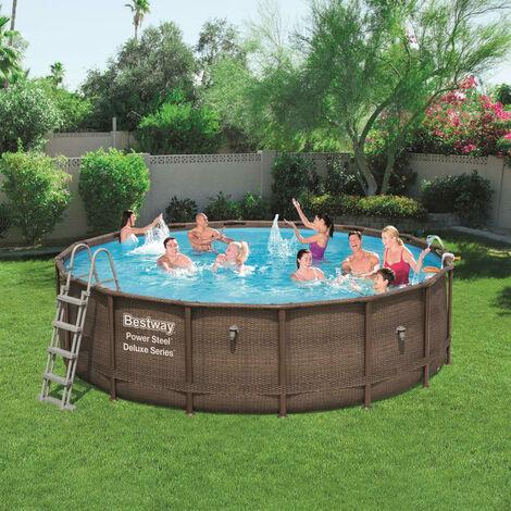 Bestway Power Steel Swimmingpool-Set Deluxe Series Rund 488×122 cm