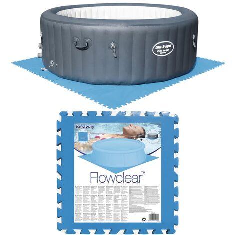 Bestway Protectores de suelo de piscina 8 piezas azul 58220