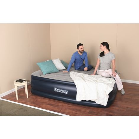 BestWay Queen size Inflatable Night Right Raised Air Bed Built-in Pump 67614