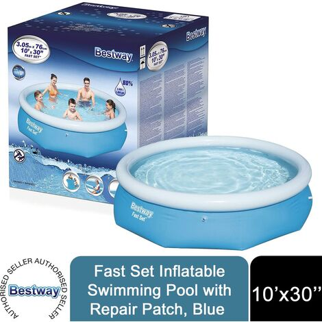 Bestway Round Kids Inflatable Paddling Pool, Fast Set, 10 ft