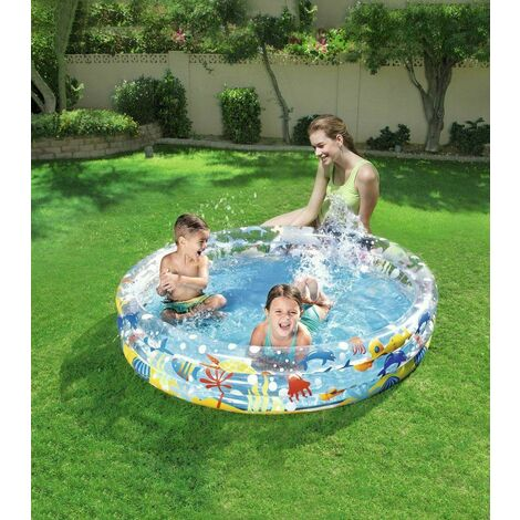 BESTWAY ROUND SWIMMING PADDLING POOL OUTDOOR 1.52M X 30CM SUMMER LARGE NEW GIFT