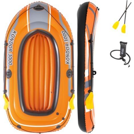 """Bestway Schlauchboot-Set """"Kondor 3000"""", orange/schwarz, 232cm x 115cm x 36cm"""