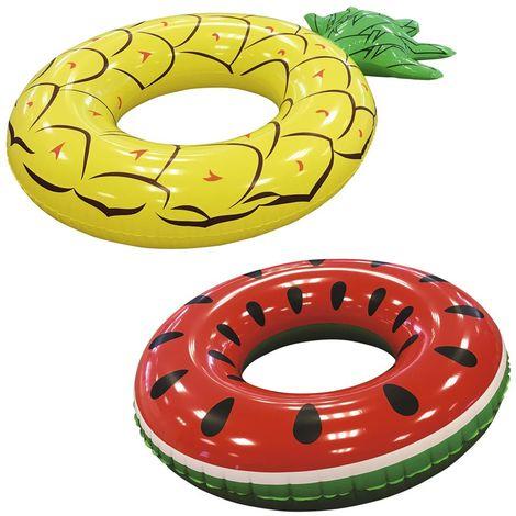 Bestway Schwimmring im Fruchtdesign Wassermelone oder Ananas