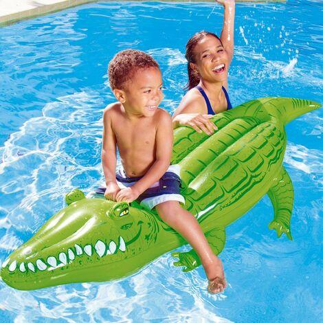 Bestway Schwimmtier | 168x89cm | Pool Wassertier Bade Matratze Aufblastier Kinder XL Krokodil
