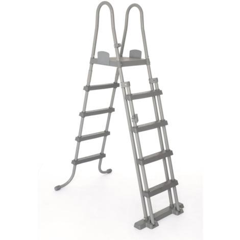 Bestway Sicherheits-Leiter 132cm, grau