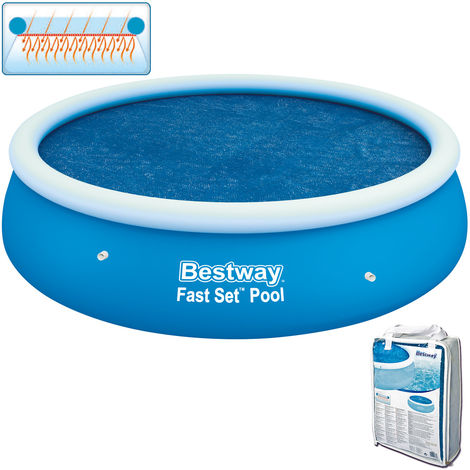 """main image of """"Bestway Flowclear Above Ground Fast Set 8ft Solar Swimming Pool Cover, 1pk"""""""