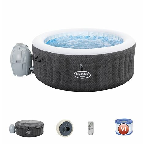 Bestway Spa Gonflable Lay- Z-Spa Havana Pour 2-4 Personnes Rond