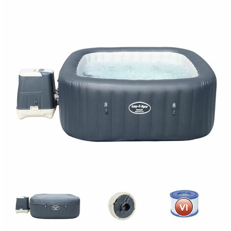 Bestway Spa Gonflable Lay- Z-Spa Hawaii Hydrojet Pro Pour 4- 6 Personnes Carré
