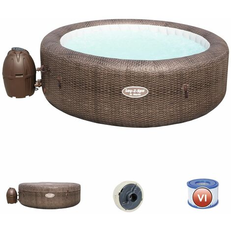 Bestway Spa Gonflable Lay- Z-Spa St. Moritz Pour 5- 7 Personnes Rond