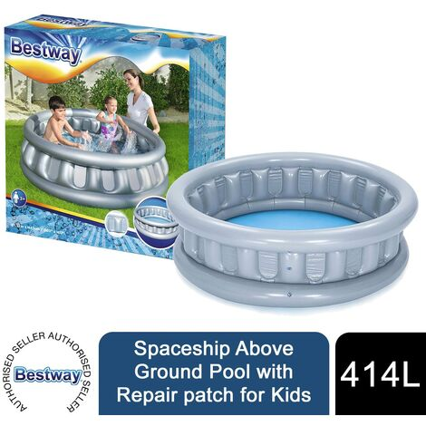 """main image of """"Bestway Spaceship Above Ground Pool with Repair patch for Kids"""""""
