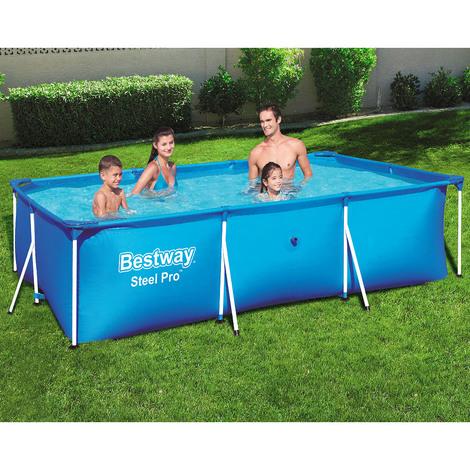 bestway piscine tubulaire rectangulaire steel pro. Black Bedroom Furniture Sets. Home Design Ideas