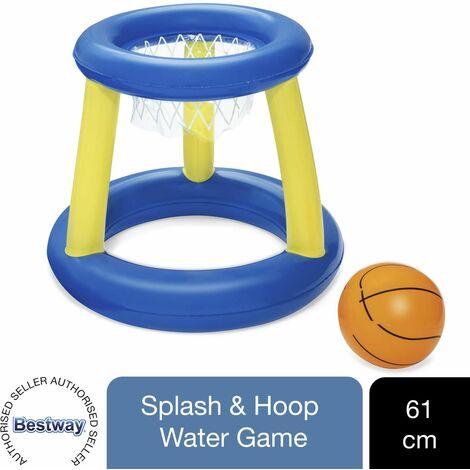 Bestway Splash N Hoop Inflatable Floating Basketball Swimming Pool Game Set, 1pk