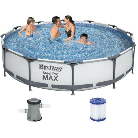 Bestway Steel Pro Frame Pool 366x76cm + Pumpe 56416
