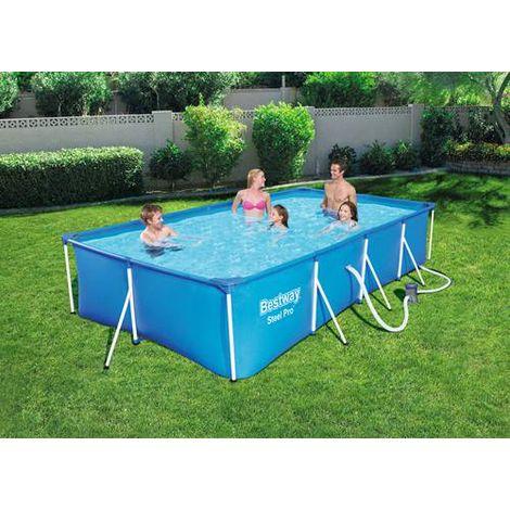 """main image of """"BestWay Steel Pro Frame Swimming Pool Set Rectangular 13'1"""" x 6'11"""" x 32"""" 56424"""""""