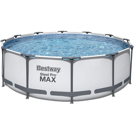BestWay Steel Pro Frame Swimming Pool Set Round Above Ground 12ft x 30 Inch BW56062