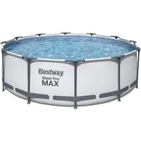 BestWay Steel Pro Frame Swimming Pool Set Round Above Ground 12ft x 30cm BW56062