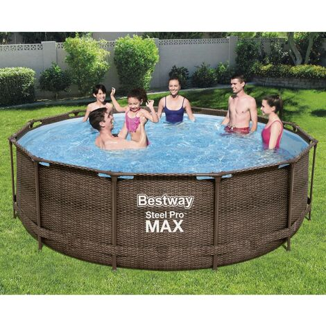 Bestway Steel Pro MAX Swimmingpool-Set Deluxe Series Rund 366x100 cm