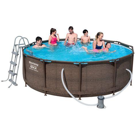 Bestway Steel Pro Pool Set 366x100 Rattan 56709