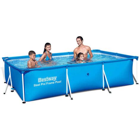 Bestway Steel Pro Rectangular Swimming Pool 300 cm Steel Frame 56404