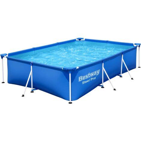 "main image of ""Bestway Steel Pro Swimming Pool 300x201x66 cm - Blue"""