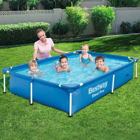Bestway Steel Pro Swimming Pool with Steel Frame 221x150x43 cm 56401