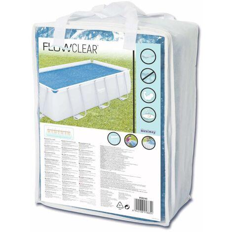 Bestway Summer Pool Cover Solar Rectangular 380x180 cm PE Blue - Blue