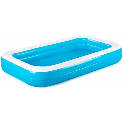 "main image of ""Bestway Swimming Pool Rectangular 305x183x46cm Blue - Blue"""
