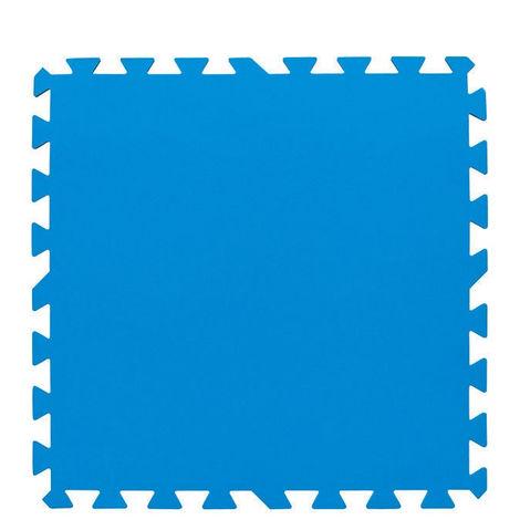 Bestway Tapis bleu 50x50 cm 8 pièces 58220