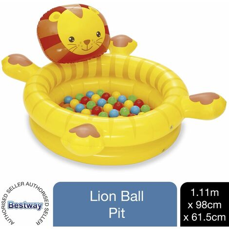 Bestway Up, In & Over Lion Ball Pit, Inflatable Kids Play Centre 111x98x61.5cm