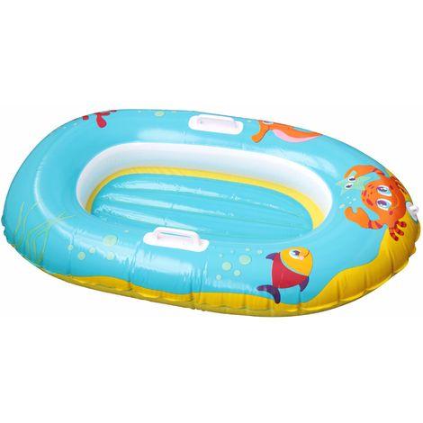 BESTWAY Wasser Schlauchboot Kinder 119 x 79 cm Blau Gelb