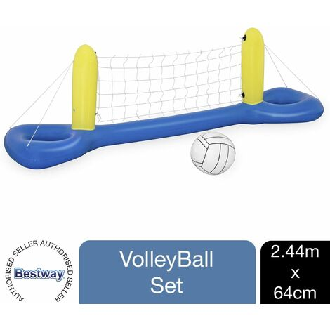 Bestway Water Volleyball Inflatable Swimming Pool Game Set, 1pk