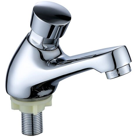 """main image of """"BET Faucet for washbasin - Ktchen Chrome Bathroom Faucet, Automatic Closing, water saving, Self-closing tap"""""""