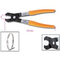 Beta 014730020 1473P Clamp Pliers For Oetiker Low Profile Collars O Clips