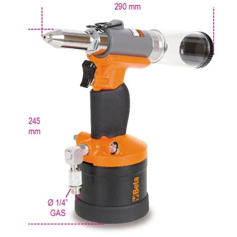 Beta 019460006 1946C 4.8 4.8 Automatic Air Suction Riveter 1/4 Gas
