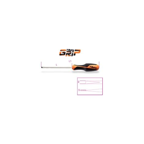 Beta 1264 4X100 4X100Mm Screwdrivers For Slotted Head Screws
