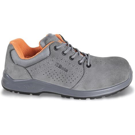 Beta Tools Suede Mens Adult Safety Boots Work Shoes Protect Grey Size 8.5-11.5