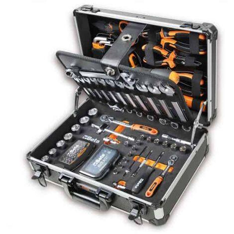 "BETA Valise alu 128 outils à main 1/4 3/8"" 2054E/E-128 - 020540022"""