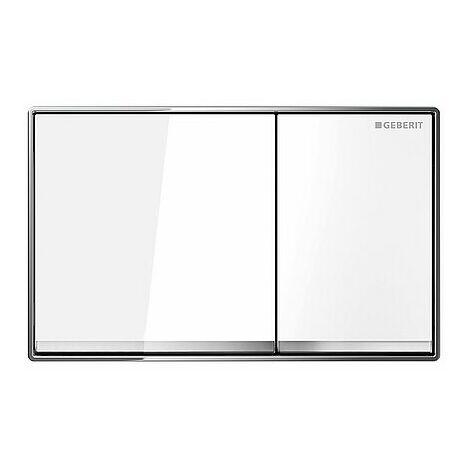 Betätigungsplatte OMEGA60 Glas weiß, 2-Mengen-Spülung - 115081SI1