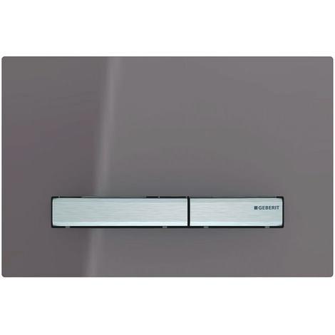 Betätigungsplatte SIGMA50 schwarz/ glanz-chrom/ chrom-gebürstet, 2-Mengen-Spülung - 115788DW2
