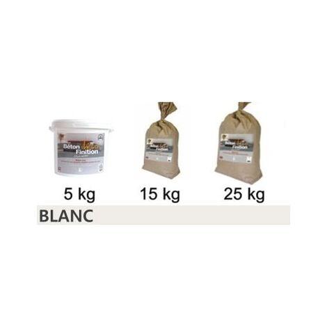 Béton ciré coloré Blanc KIT COMPLET   5kg (kit complet) ~6m2