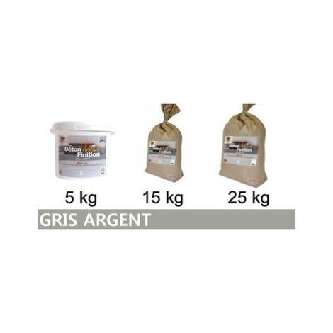 Béton ciré coloré Gris Argent KIT COMPLET   5kg (kit complet) ~6m2