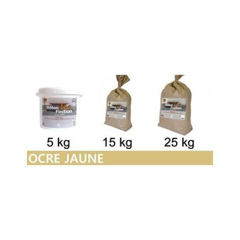 Béton ciré coloré Ocre Jaune KIT COMPLET   5kg (kit complet) ~6m2